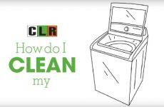 clr to clean washing machine